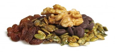 walnut and vanilla truffle - walnuts, raisins, dark chocolate drops and vanilla pumpkin seeds