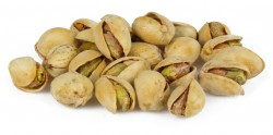 roasted pistachios with BBQ seasoning