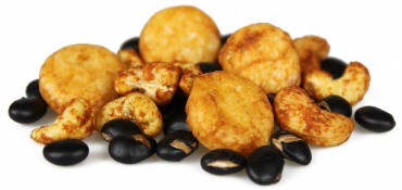 peking dynasty - peking cashews, baked soy bites and black beans