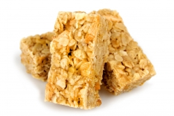 rustic rolled oat flapjack with orange and stem ginger