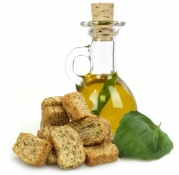 crunchini basilico - crunchini and basil infused oil