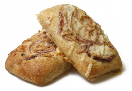 image of west country cheddar, red onion and chutney focaccia