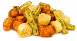 herby bread basket - mini basil breadsticks, garlic crostini and oregano rice crackers