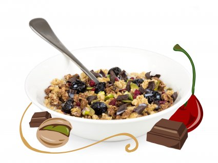 image of rocky road granola