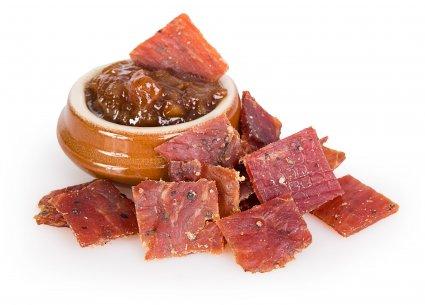 image of peppered pork jerky
