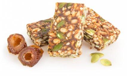 image of pumpkin, sesame & sunflower seed raw bars