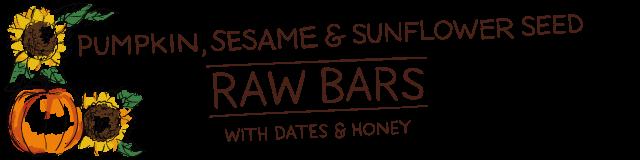 pumpkin, sesame & sunflower seed raw bars