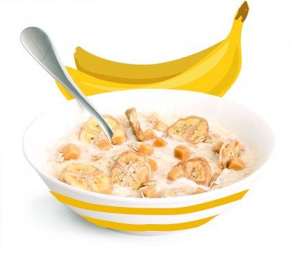 image of banoffee porridge