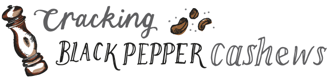 cracking black pepper cashews