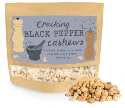 image of cracking black pepper cashews