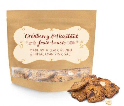 image of cranberry and hazelnut toasts