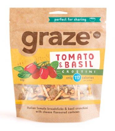 image of tomato and basil crostini