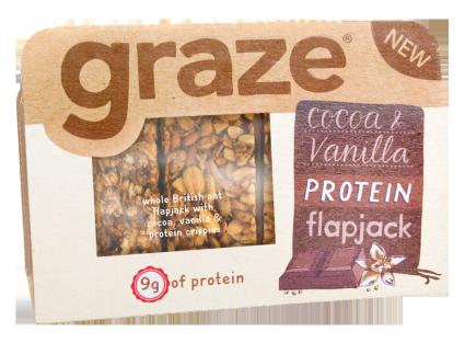 image of cocoa & vanilla protein flapjack