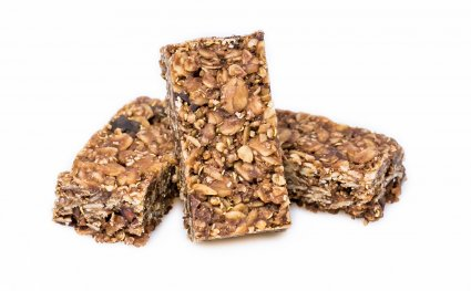 image of ancient grain quinoa flapjack with cacao