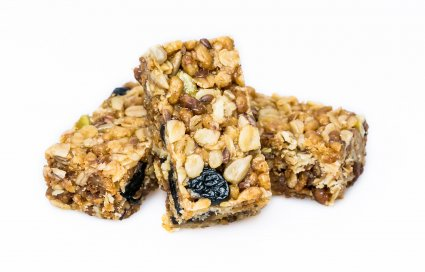 image of super baobab flapjack with blueberry