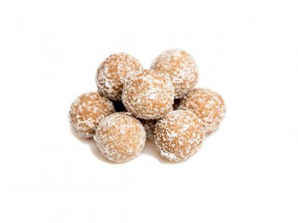 image of coconut and cashew mini protein balls