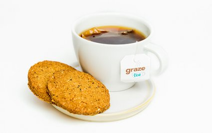 image of chia & coconut cookies and tea