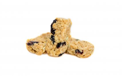 image of blueberry lemon superfood flapjack