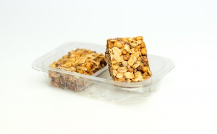 image of maple oat squares with superfood maca