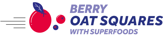 berry oat squares with superfoods
