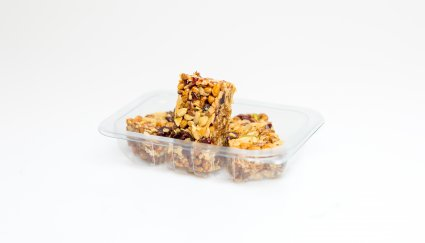 image of berry protein flapjack