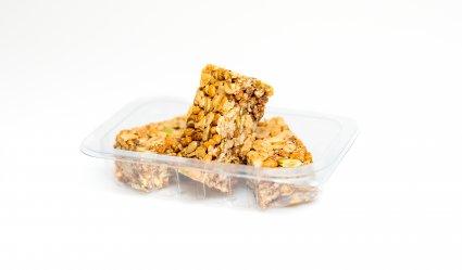 image of cinnamon protein flapjack
