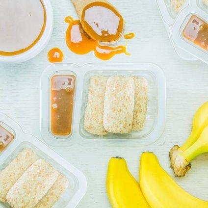 image of wholegrain banana caramel dippers