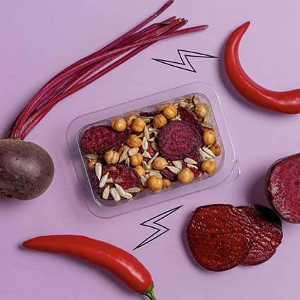 image of sweet and spicy beetroot crunch