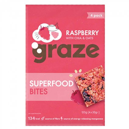 image of superfood bites - raspberry with chia & oats - multipack