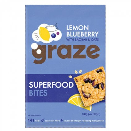image of superfood bites lemon blueberry with baobab & oats