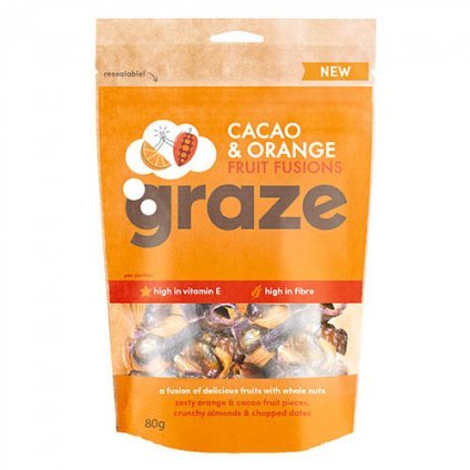 image of cacao and orange fruit fusion