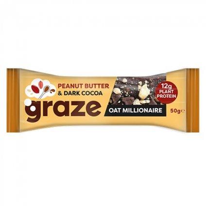 image of peanut butter & dark cocoa oat millionaire