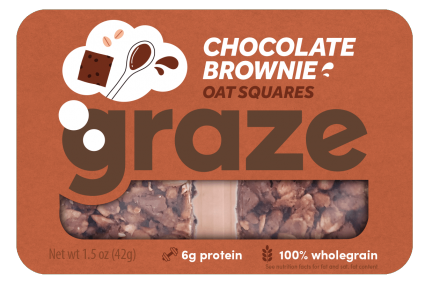 image of chocolate brownie oat squares
