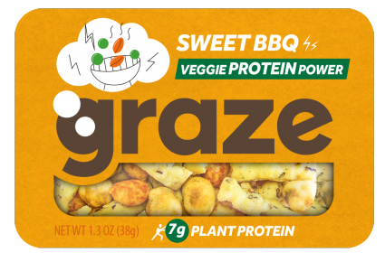 image of sweet BBQ veggie protein