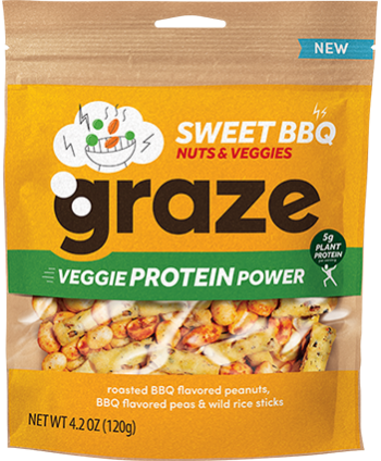 image of sweet BBQ veggie protein power