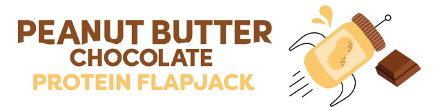 peanut butter chocolate protein flapjack