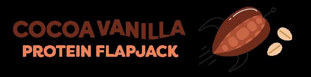 cocoa vanilla protein flapjack