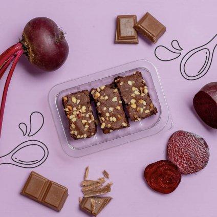 image of dark chocolate brownie