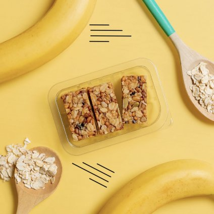 image of banana protein flapjack