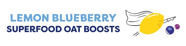 lemon blueberry superfood oat boosts