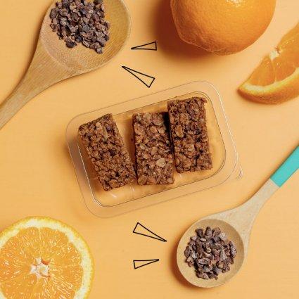 cocoa & orange superfood flapjack
