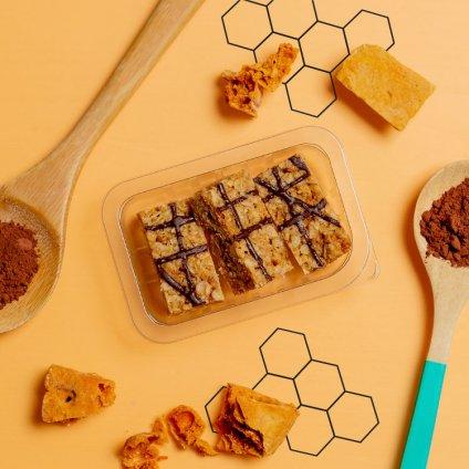 image of honeycomb fibre flapjack